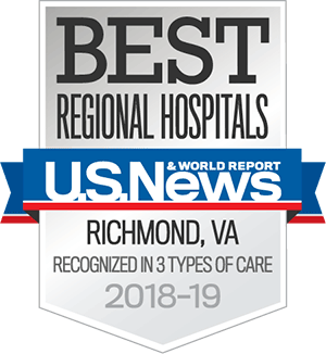 US News Best Regional Hospitals - Richmond, VA - Recognized in 3 types of care, 2018-19