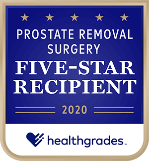 Healthgrades Prostate Removal Surgery 5-star recipient 2020